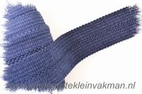 Tresband, 75% acril / 25% polyester, per meter, donkerblauw