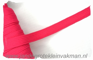 Veterband, synthetisch, 12mm breed, per meter, fuchsia