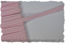Pipingband, elastisch, 5mm breed, roze, per meter