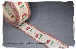 Sier of afwerkband kerst thema, ca. 40mm breed, per meter